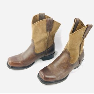 Harley Davidson Pull On Leather Boots Motorcycle